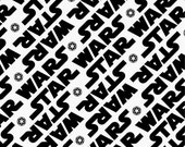Star Wars - FLANNEL Fabric - Star Wars Title from Camelot Fabrics