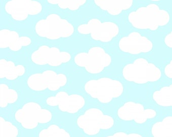 Sanyu - Turquoise Clouds from 3 Wishes Fabric