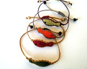 Macrame bracelets. Fishes bracelets. Bracelets for winter. Adjustable bracelets.