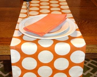 Wedding Table Decor Table Runner Table Top Orange Polka Dot Table Runner Sweet Potatoe Runner