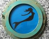 Hand Carved Mermaid Porthole