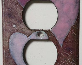 enameled copper outlet cover/hearts