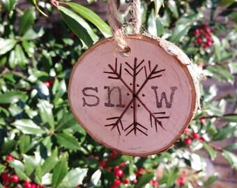 Snow & Joy Wooden Ornament Set