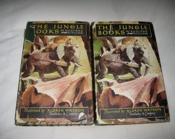 The Jungle Books 1948 edition 2 volumes