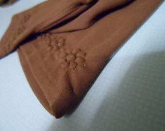 Gloves, brown, day wear, good condition, vintage.