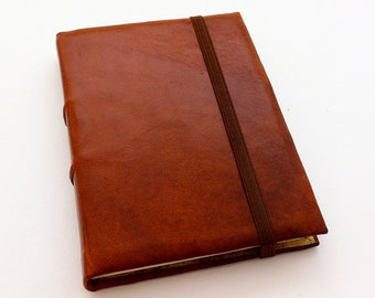 Brown Leather A5 Journal w/ Tomoe River