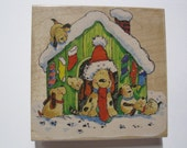 Penny Black Wood Mounted Rubber Stamp -  Best Time of the Year