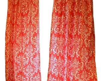 Unique Coral Curtains Related Items Etsy