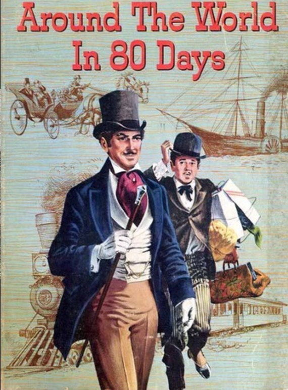 """5th Monthly Sock yarn club """" Jules Verne around the world in 80 days """""""
