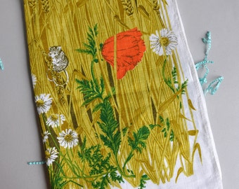 Lee Parry - Cornfield & Field Mouse - Linen Tea Towel - The National Trust