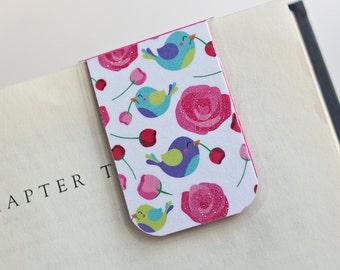 Magnetic Bookmark Laminated Happy Birds Love Roses Flowers Romance Valentines Teacher Gift Christmas Stocking Stuffer Student College