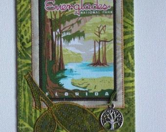 Florida Everglades Card Postcard Birthday Her Him Friend Parks Housewarming Thank You Frame Hi Room Decor Wish You Were Here Gift Fabric 4x6