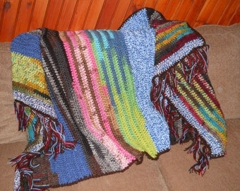 Boho Colorful Afghan