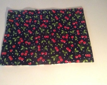 Handmade Reversible Cherry, Apple , Pear Placemats,Luncheon Mats,Set of 2