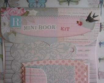Scrapbooking Mini Book Kit DIY Romantic Spring Die Cut Stickers Embellishmants