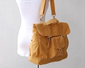 Mother's Day SALE 30% Off + Mysterious Gift - Pico2 Backpack Convertible in Mustard (Water Resistant) Shoulder Bag / Satchel / Rucksack