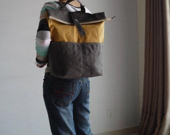 Backpack, Big SALE - ZEN - Hand Waxed Canvas Backpack, Satchel, Rucksack, Laptop Backpack, School Backpack, Women, Gifts,  40% OFF