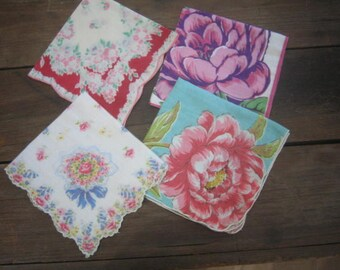 Four Vintage Hankies