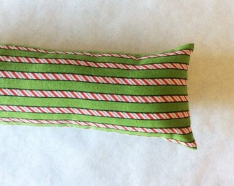 Kitty Kicker, Cat Toy, Catnip Toy, Cat Kicker, Red, White, and Green Peppermint Stripes