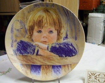 Vintage Daydreaming Collectors Plate by Frances Hook 2nd in Series