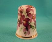 Thimble Bone China with Violets