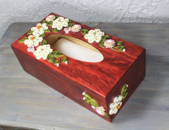 Decorative Tissue Box Cover Glamorous Wooden Paper Tissue Boxquilled Decorative Boxquilled Kleenex Review