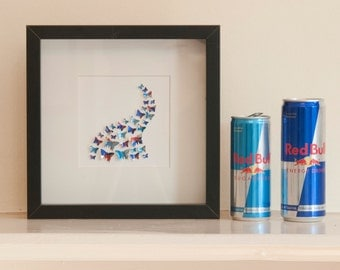 Red Bull Swoosh Small - Recycled Can Picture, Framed