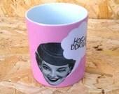 Hogan Ddrwg Pink Welsh Bad Girl Art Welsh Text Ceramic Mug 11oz