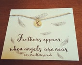 Feathers appear when angels are near necklace