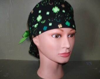 St. patricks ponytail scrub cap