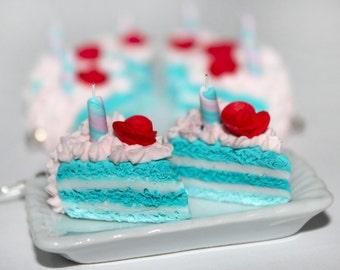 Alice in Wonderland earrings - Cake Earrings - Birthday Cake earrings -  Rose Cake earrings - Pastry Earrings - Kawaii Earrings