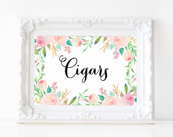 "Instant Download - Spring Shower Cigars Print - 5""x7"""