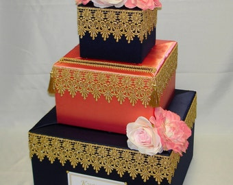 Moroccan theme Card Box /   Indian Fusion theme Party
