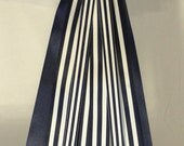 Custom Listing for Fran Nautical - Bow - Ribbon Bow- Charming Nautical Navy Blue - White Striped Bow