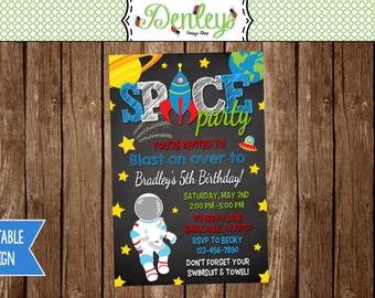 Space Birthday Invitation (SP04)