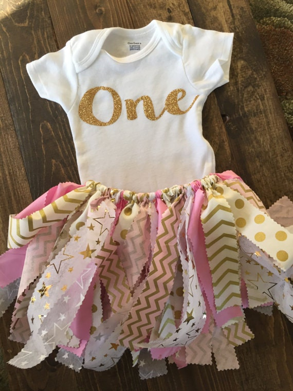 Fabric tutu outfit twinkle twinkle little star shabby chic - Shabby chic outfit ideas ...