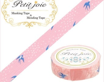 Swallow with Mail - Japanese Washi Masking Tape - 19 yards