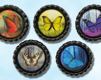 Butterflies in the forest, flying insects, Butterfly fantasy, Purple Butterfly, swallowtail magnet, colorful butterfly magnets, Magnet board