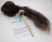 Learn to Spin Kit, Drop Spindle Kit, 50g (1.8oz) roving, a spindle and beginner instructions