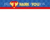 SUPERMAN THANK YOU Superman Printable Thank You Notes, Instant Download, Instant Superman Thank You Note, Thank You Note, Superman Note