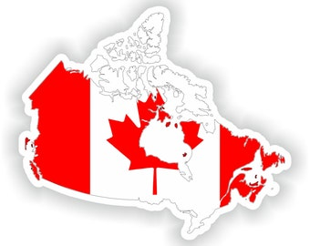 Canada  Map Flag Silhouette Sticker for Laptop Book Fridge Guitar Motorcycle Helmet ToolBox Door PC Boat