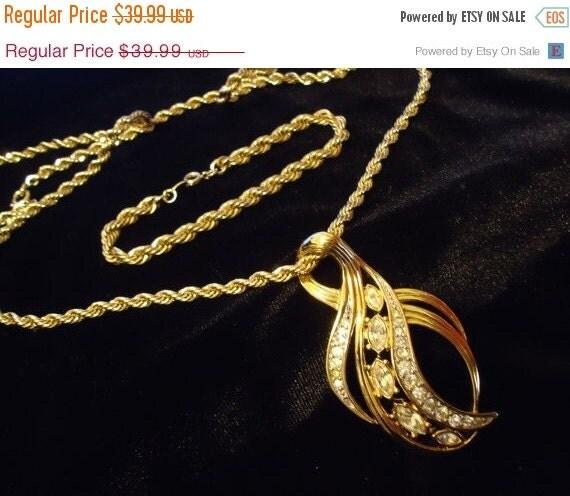 Now On Sale VINTAGE TRIFARI RHINESTONE Necklace & Chain Bracelet 1950's 1960's Hollywood Regency Glam Formal Black Tie Jewelry