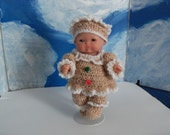 5 Inch Berenguer Doll in Ginger Bread Outfit