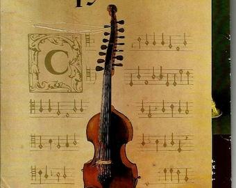 Musical Instruments, Set of 18, Russian Vintage Postcard unused print 1986