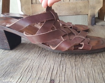 ANGLER     ///    Stacked Sandals