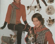 Simplicity 4749, All Sizes, Misses' and Dog Accessories Pattern, UNCUT, Dog Coat, Dog Collar, Dog Blanket, Misses' Scarf, Misses' Hat, 2004