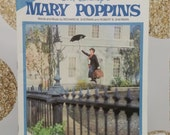 Vintage Mary Poppins Walt Disney Vocal Music Book or Magazine - Favorite Songs Vocal. Piano. Guitar. 1984. Wonderland Music Company