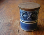 Mid Century Modern Bernard Moss Lidded Jar - Modernist Abstract Studio Pottery by Moss Potteries