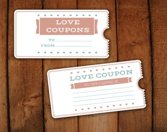 Items similar to love coupon book on etsy for Love coupon template for word