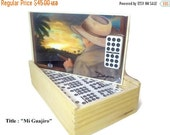 Fall Sale Best Gift. Professional Dominoes Set double Nine with Artwork. Five designs to choose